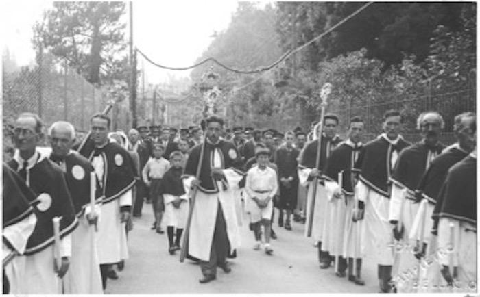 Foto in bianco e nero della confraternita di Bellagio