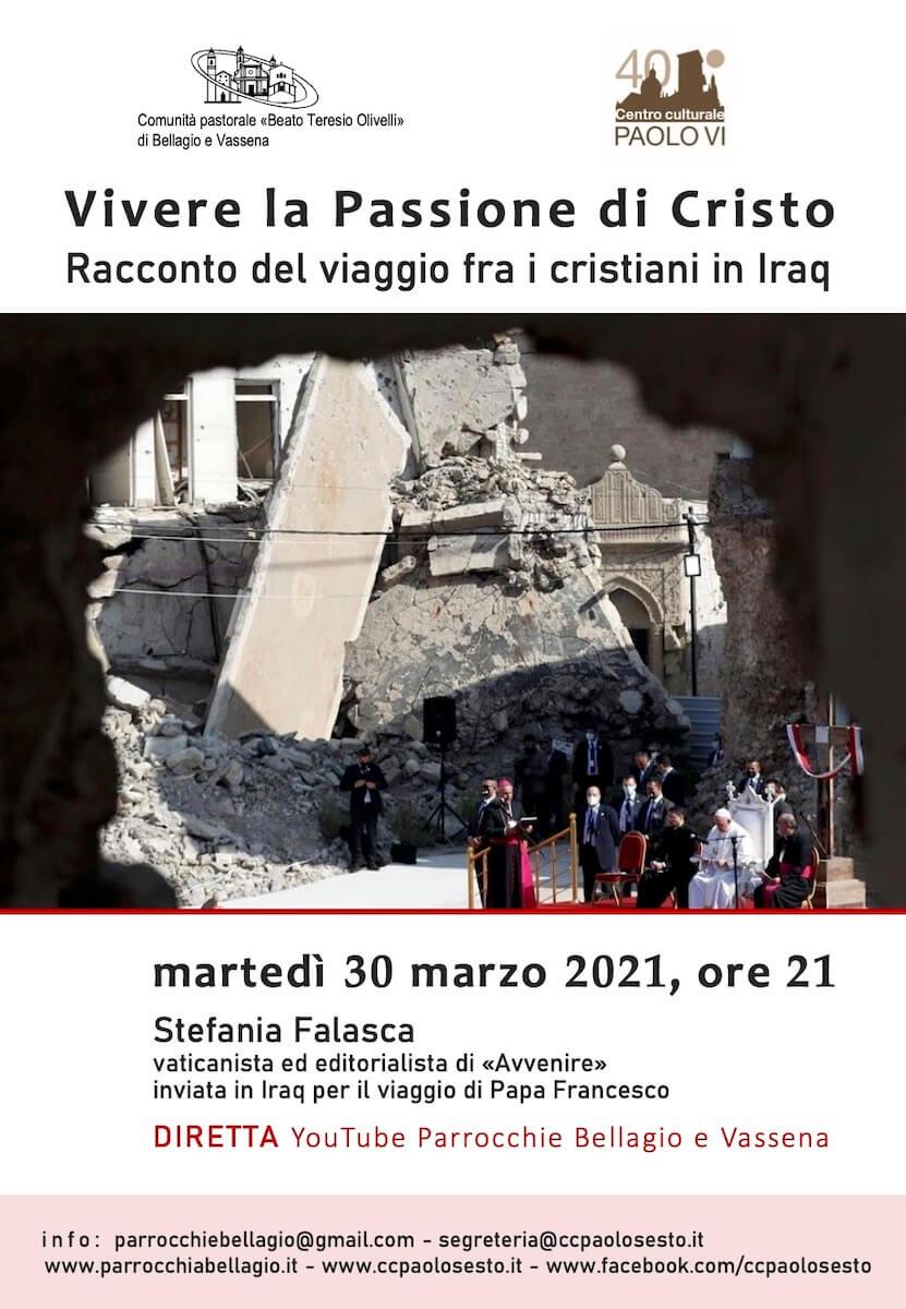 Locandina incontro Papa Iraq 30-03-2021